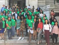 SYEP Youth in Front of the Wilson Building